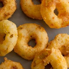 french fries and onion rings had a baby. POTATO RINGS.