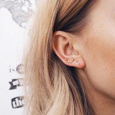 jewels jewelry earrings gold bigbear stars earpiercing earpiece piercing earring stars ear cuff boho hipster indie galaxy print science constellations tumblr jewellery ear piercings stud earrings elegant earrings jewelry earrings gold earrings
