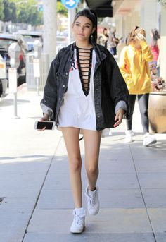 Madison Beer Out And About In Beverly Hills - July 2016 . Estilo Madison Beer, Madison Beer Style, Madison Beer Outfits, Robert Kardashian, Kourtney Kardashian, Edgy Outfits, Outfits For Teens, Summer Outfits, Cute Outfits