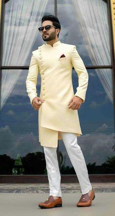 Sherwani For Men Wedding, Wedding Dresses Men Indian, Wedding Dress Men, Casual Wedding, Indian Weddings, Wedding Men, Men's Wedding Wear, Wedding Outfits For Men, Mens Wedding Looks