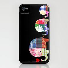 Patchwork Elephants - Love iPhone & iPod Case