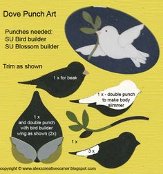 Alex's Creative Corner: Bird Punch Dove Christmas Card