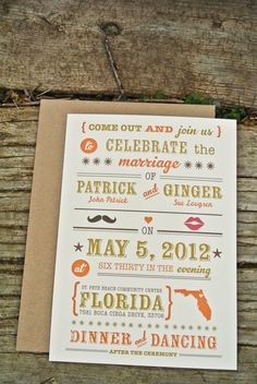 Wedding Invitation  Rustic Country by WideEyesDesign on Etsy,