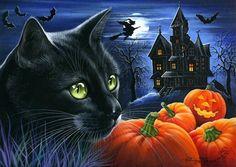 Irina Garmashova Cats Halloween
