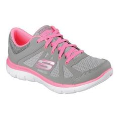 Women's Skechers Flex Appeal .0 Simplistic Training Shoe Gray/Hot