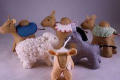 wool felt nativity