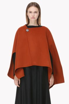 Wool cashmere small cape