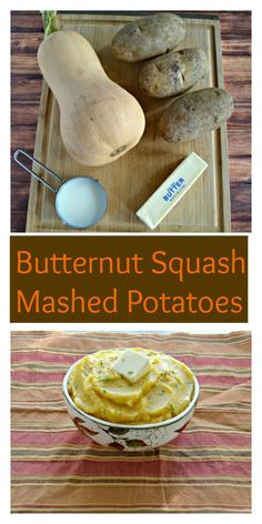 "Mashed ""Potatoes"" With A Butternut Squash Swirl Recipe — Dishmaps"