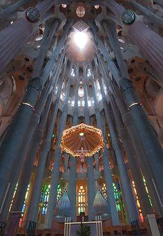 Basilica and Expiatory Church of the Holy Family by Antoni Gaudí.Barcelona, Spain.