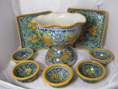 Mexican Talavera Corona Pottery... we have all the pieces to start your very own collection!  www.nomadcambridge.com