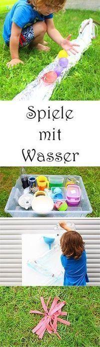 Spielen im Sommer - 6 Spiele mit Wasser für Kinder für den Garten