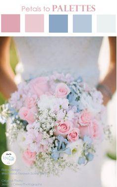 Pastel Pink Blue Wedding Bouquet