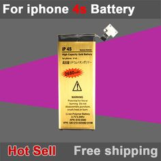 Brand New Good Quality1430mAh Golden Mobile Phone Battery for iPhone 4S Battery Free Shipping iPhone Web Shop  