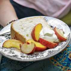 """My great-grandmother won so many blue ribbons with this cake,"" Katie Lee says. ""I love to serve it with peaches, because the cake sops up the juices ..."