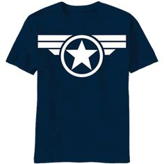 Blue and White Star Captain America T-Shirt - NW-V6226MS from Superheroes Direct