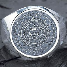 Aztec Calendar Men's Ring