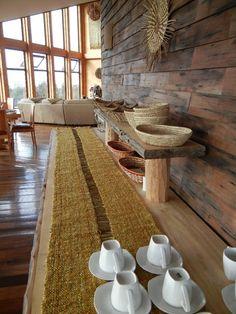 Handmade Home, Table Runners, Ideas Para, Animal Print Rug, Home Furnishings, Loom, Weaving, Textiles, Table Decorations