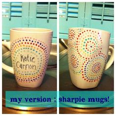 Sharpie mug was a complete success following these instructions!!- Steph