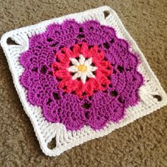 Square Off Heart Mandala Motif By babylovebrand - Free Crochet Pattern - (cypresstextiles)