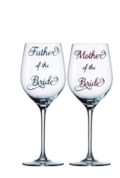 mother of the bride gift mother of the bride wine glass father of the bride glass wedding party gift wedding party glasses bridal party