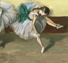 Dancer resting, Edgar Degas (1834-1917), French. Marie Van Goethem was not only the subject of the famous sculpture by Degas, but several other paintings as well.