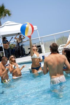 Catch the beach ball at hotel BLUE