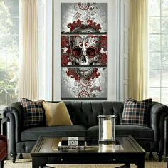 Deadly Desire 3 Piece Canvas Wall Art    **WORLDWIDE SHIPPING AVAILABLE**    Item Type: Painting     Style: Classic     Material: Canvas     Subject: Skull/Roses     Type: Canvas Printing     Shape: Square     Frame: No Fame    Frame Sizes: 35m x 50cm, 40cm x 60cm,  50cm x 70cm | Shop this product here: http://spreesy.com/belladonnahomedecor/115 | Shop all of our products at http://spreesy.com/belladonnahomedecor    | Pinterest selling powered by Spreesy.com