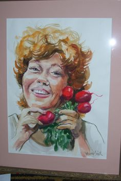 Julie and the Radishes ,watercolor by Frances  Smith