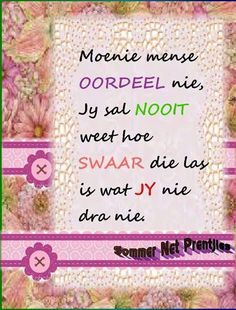 . Afrikaans Quotes, Wedding Quotes, Qoutes, Life Tips, Nails, Ideas, Quotes Marriage, Quotations, Finger Nails
