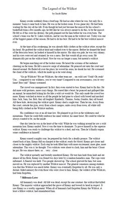 "2015 Teen Read Winning Written Entries- ""The Legend of the Wildcat"" by Jacob Ritter"