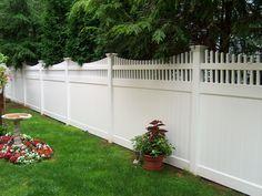 Aspen vinyl fence