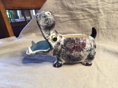 "Cute Hippo Planter ~ 8""x 6"" ~ Mid Century No Chips Or Cracks 