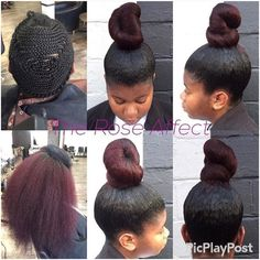 hair styles using braids bun using braiding hair cheveux coiffures 6749