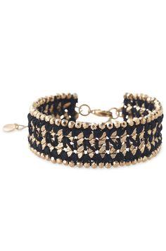 metal woven bracelet