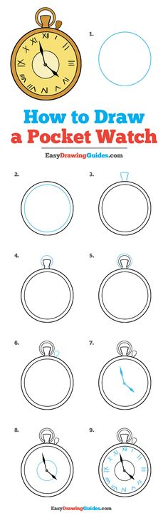 Learn How to Draw a Pocket Watch: Easy Step-by-Step Drawing Tutorial for Kids and Beginners. #PocketWatch #DrawingTutorial #EasyDrawing See the full tutorial at https://easydrawingguides.com/how-to-draw-pocket-watch/.