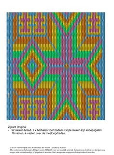 Tapestry Crochet Patterns, Art Forms, Knit Crochet, Crochet Bags, Purses And Bags, Kids Rugs, Crafty, Knitting, Design