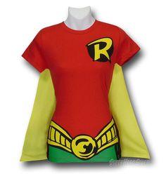 Robin Juniors Costume Caped T-Shirt