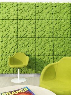 leaves - Johanson Design sound absorbent panels.  What a great design-friendly solution for noisy, echoey spaces.