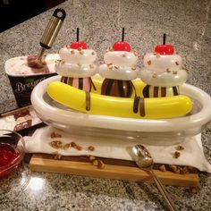 Banana Split Made From Balloons