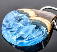 Just a good night to all of you. Enjoy our new blue pendant we got in our shop. . ArtfulResin.etsy.com