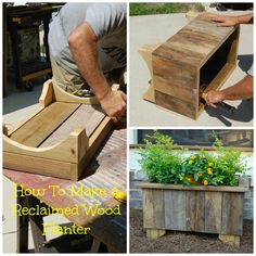 Antebellum 1862: HOW TO MAKE A RECLAIMED WOOD PLANTER @thistlewoodfarm