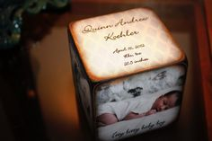 Baby Announcement Photo blocks by ChickenDoodles on Etsy, $20.00