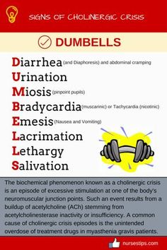 SIGNS OF CHOLINERGIC CRISIS: DUMBELLS