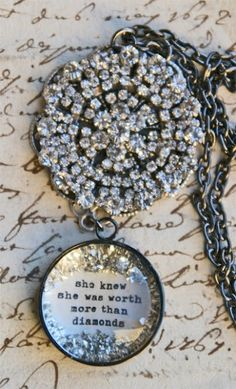 **She knew she was worth more than diamonds! (buy online www.bethquinndesigns.com)