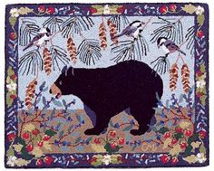 Hooked Rug ... Bear Patch