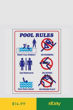 Swimming pool rules and regulations signs pool in 2019 - Swimming pool rules and regulations signs ...