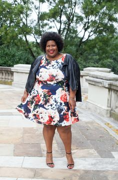 And I Get Dressed: Fall Florals and Leather by @fashioninsider via @sallymcgraw