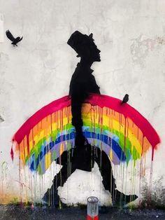 Perfect World, Gay Pride, Urban Art, Street Art, Street Style, Outdoor Decor, Poster, Painting, Design