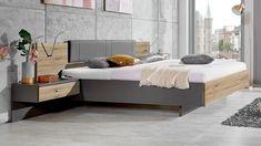 Stylform ORION Floating Bed in rustic santana oak & havanna Superking Bed, Oak Beds, Floating Bed, Contemporary Bedroom Furniture, Rustic Bedding, Bed Design, Solid Oak, Modern Beds, Modern Living