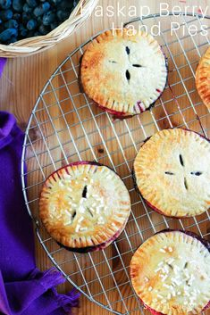 Haskap Berry Hand Pies & A Long Table Dinner - SugarLoveSpices Tart Recipes, Sweet Recipes, Quiches, Pie Dessert, Dessert Recipes, Dessert Table, Easy Desserts, Delicious Desserts, Sauces